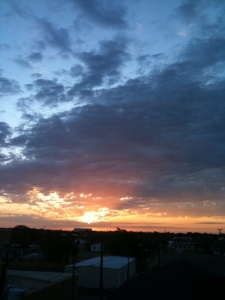 Sunrise over Levelland
