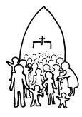Church Line Drawing